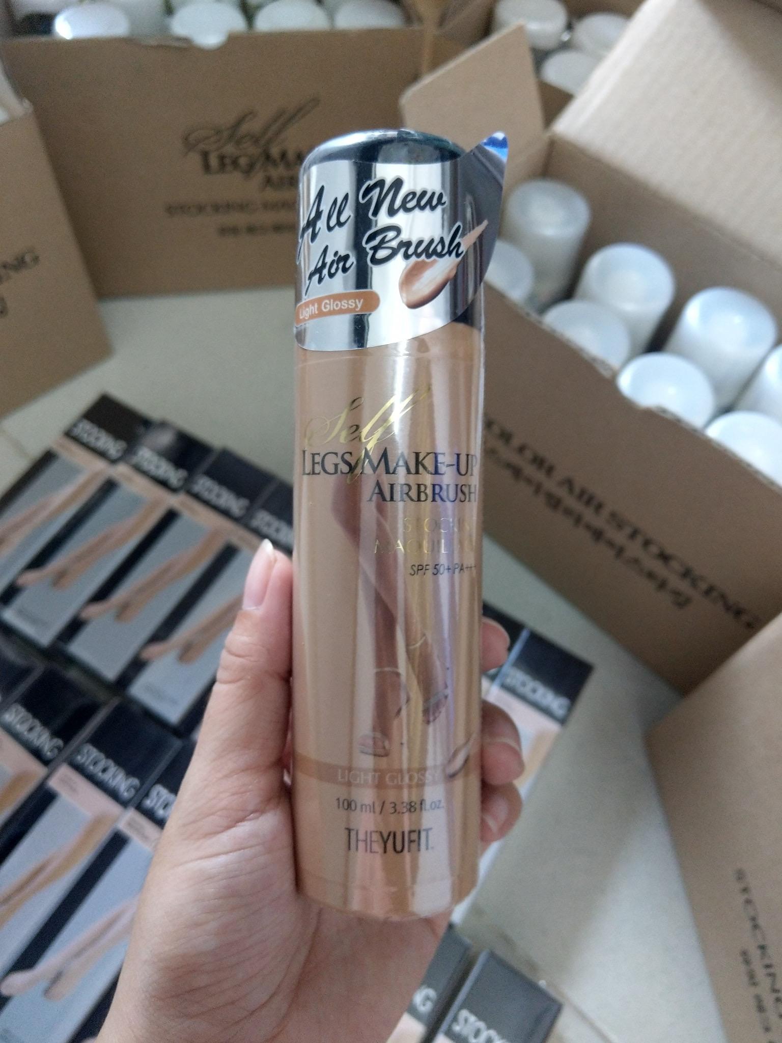 Tất phun Hàn Quốc - Make up chân thần thánh YUFIT LIGHT 100ml dành cho da trắng cao cấp