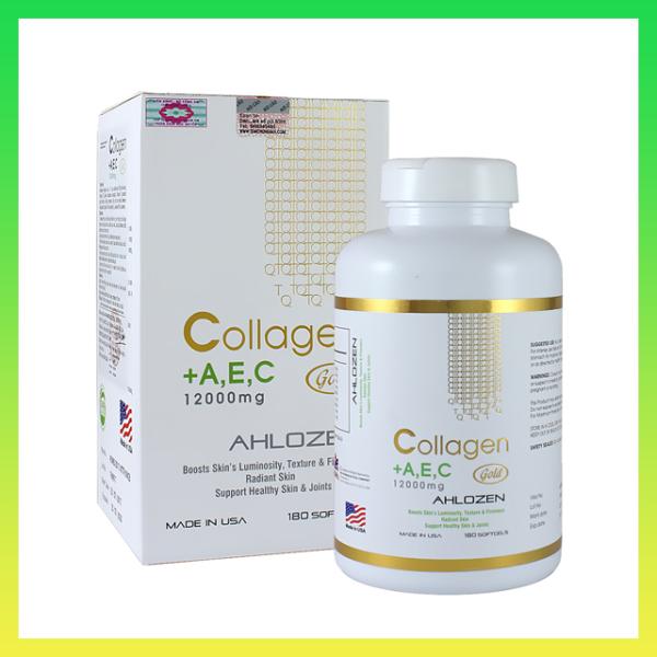 Viên Uống Collagen AEC 12000mg Ahlozen Mỹ 180 Viên - Hàng công ty