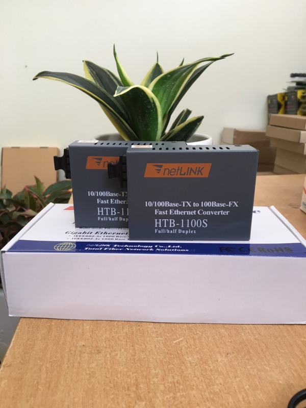 Bảng giá Bộ converter quang 2 SỢI NETLINK HTB-1100S-25KM Phong Vũ