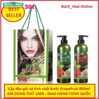 Cặp dầu gội xả tinh chất bưởi Grapefruit 850ml ngăn ngừa rụng tóc phục hồi hư tổn nhập khẩu chuẩn Anh, tinh chất bưởi GrapeFruit, cặp dầu gội dưỡng tóc, bộ dầu gội xả tinh chất bưởi thumbnail
