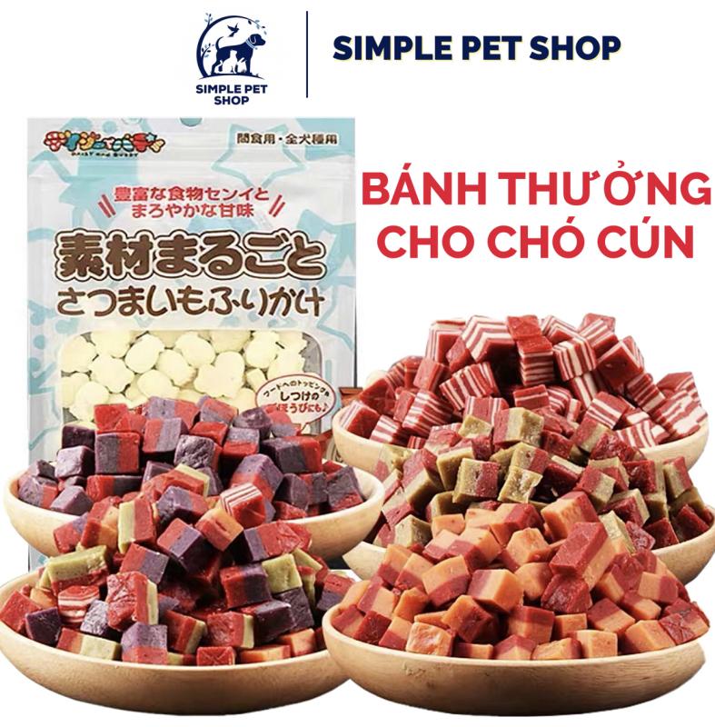 Bánh cho chó ăn làm sạch răng dinh dưỡng 100gr - Làm sạch vôi răng, loại bỏ mảng bám giúp ngừa sâu răng, hôi miệng cho cún cưng, thơm ngon cho chó kén ăn, khó mập, chó ốm, tăng cân ăn ngon
