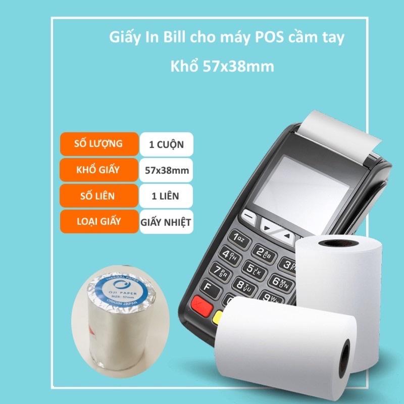 Mua Giấy in nhiệt k57 - Giấy in bill K57 cho máy cà thẻ, Pos cầm tay, máy bán hàng cầm tay