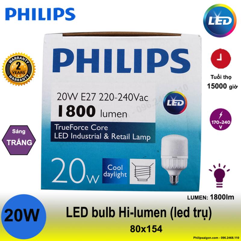 Bộ 2 bóng led trụ philips công suất cao với chất liệu nhựa cao cấp, hạn chế vỡ và chống con trùng xâm nhập, với công nghệ LED tiết kiệm đến 60% điện năng- bảo hành 24 tháng
