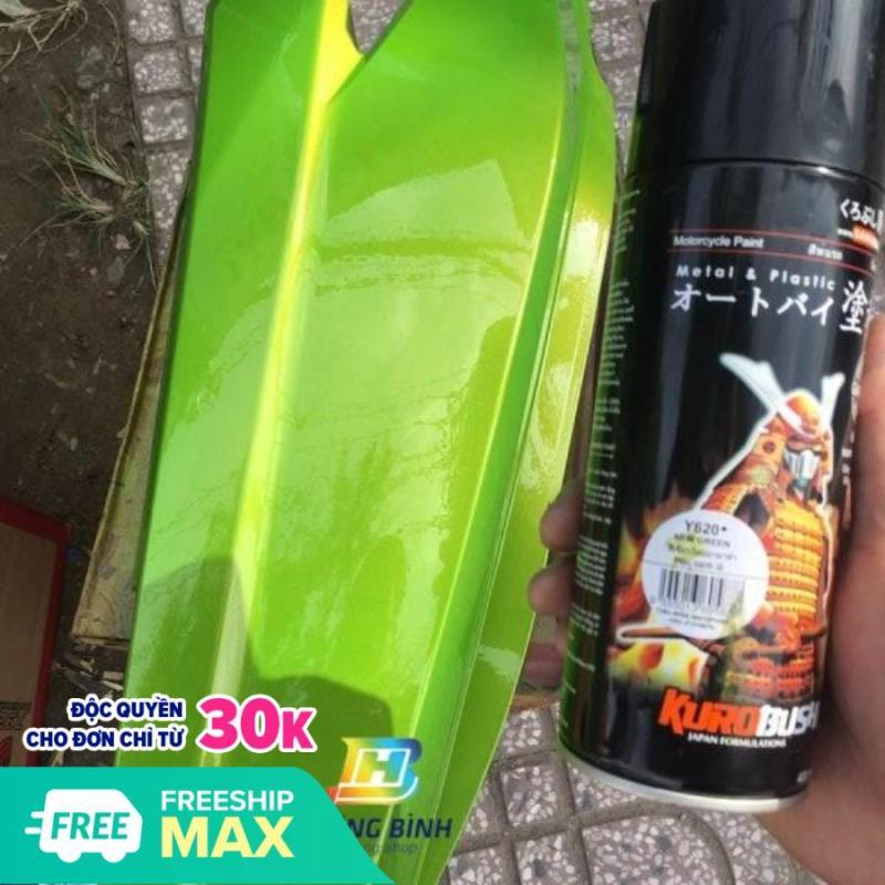 Sơn xịt Samurai màu Xanh Lá - Y620 (400ml) (chịu được nhiệt độ lốc máy và có khả năng kháng xăng A92, A95)