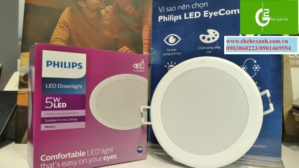 Bộ đèn âm trần Philips LED 59447 MESON 090 5W 65/40/30K WH RECESSED LED