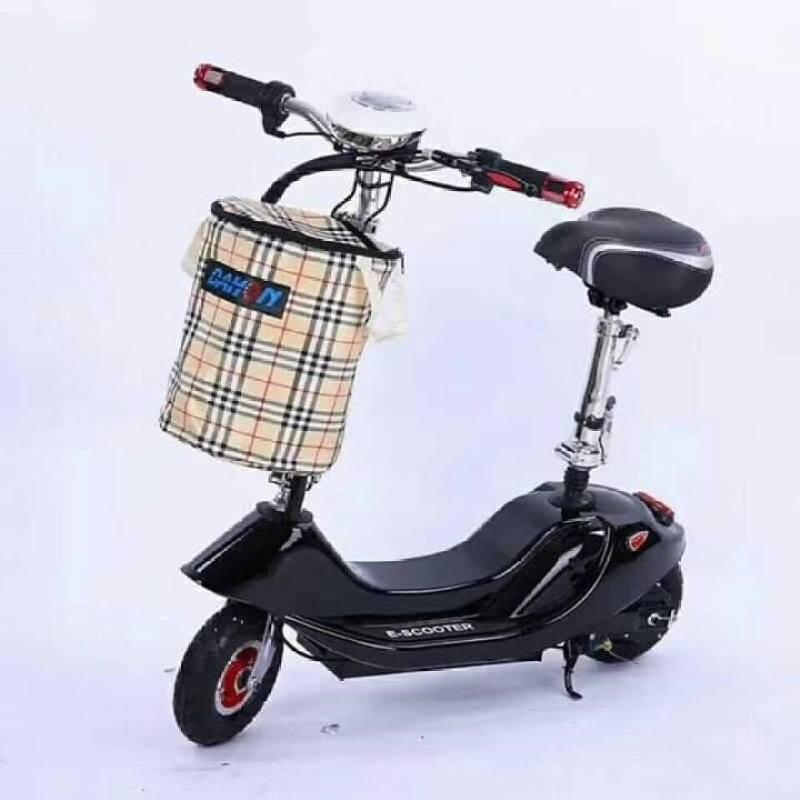 Phân phối Xe máy điện Mini Scooter Bánh 8 inch Tặng Kèm Ghế Em Bé + Giỏ Xe