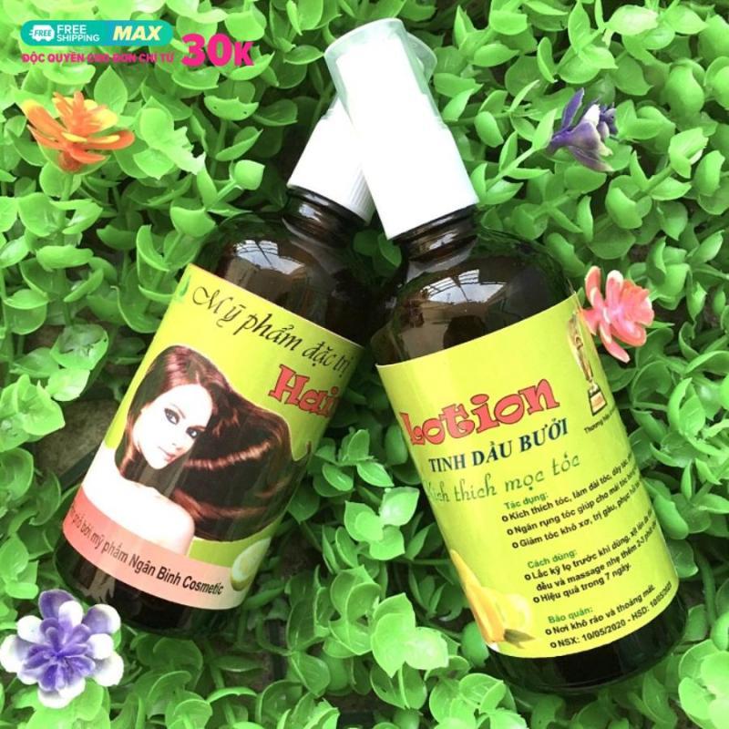 Tinh dầu bưởi ngăn rụng tóc và kích thích mọc tóc, Giảm khô xơ, Dưỡng mềm mượt, ngăn gàu...