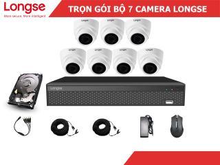 Combo bộ kit Longse 7 mắt dome nhựa 1080P-LITE thumbnail
