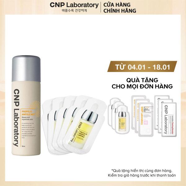 Combo Xịt khoáng và tinh chất keo ong trẻ hóa da CNP Laboratory Propolis Ampule Mist 55ml giá rẻ