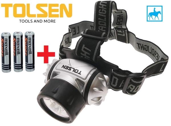 Bảng giá [HCM]Đèn Đội Đầu Đèn Soi Chiếu Xa 7 LED 50Lumens TOLSEN 60011 Tặng 3 Pin AAA