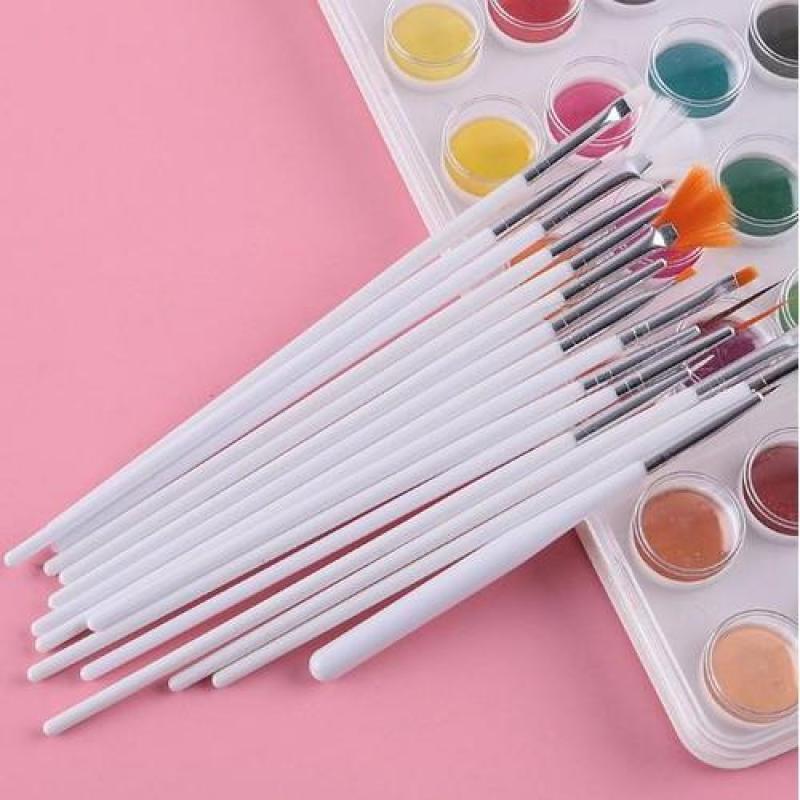 Set 15 cọ vẽ móng nghệ thuật, vẽ trang trí móng tay, làm nail chuyên nghiệp