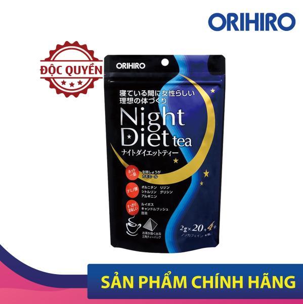 Trà Night Diet Tea Orihiro Nhật Bản hỗ trợ giảm cân ban đêm, tăng cường hệ tiêu hóa, 24 gói/túi giá rẻ