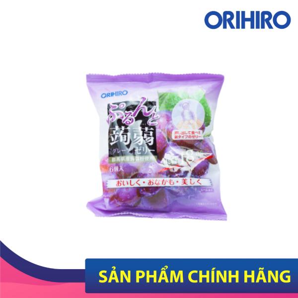 Thạch Trái Cây Orihiro Vị Nho Tím Bổ Sung Chất Xơ, Vitamin An Toàn Cho Bé 6 Gói/Túi HSD Tháng 10/2021