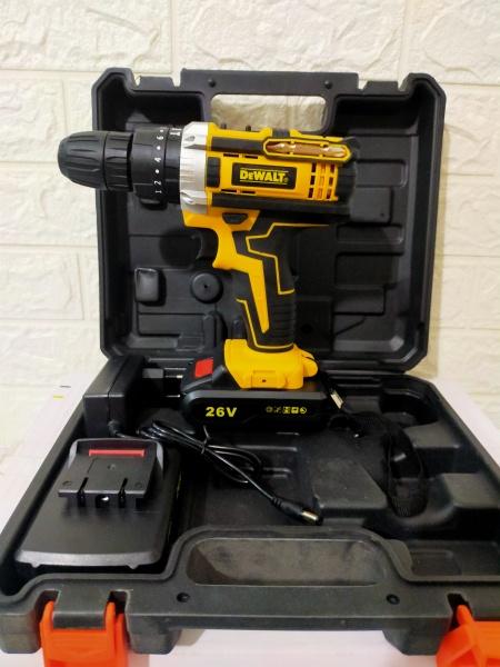 máy khoan pin 26V dewalt-có 2 cục pin đầu 10ly 3 chức năng chuyên bắt vít khoan sắt gỗ tường