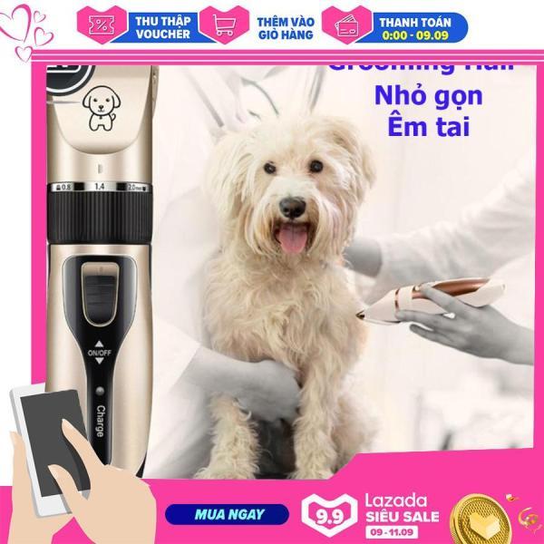 Tông đơ cắt tỉa lông cho chó mèo grooming hair cliper Phụ kiện Long Vũ