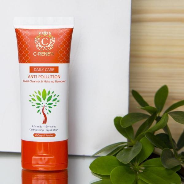 Sữa rửa mặt ngừa mụn chống ô nhiễm C-RENEW Anti Pollution dạng Gel dành cho da thường và da hỗn hợp - tuýp 50g cao cấp