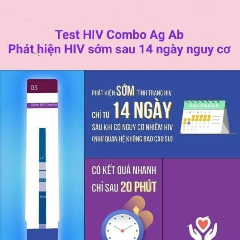 Bộ xét nghiệm HIV phát hiện sớm sau 14 ngày Alere HIV COMBO nhập khẩu tốt nhất