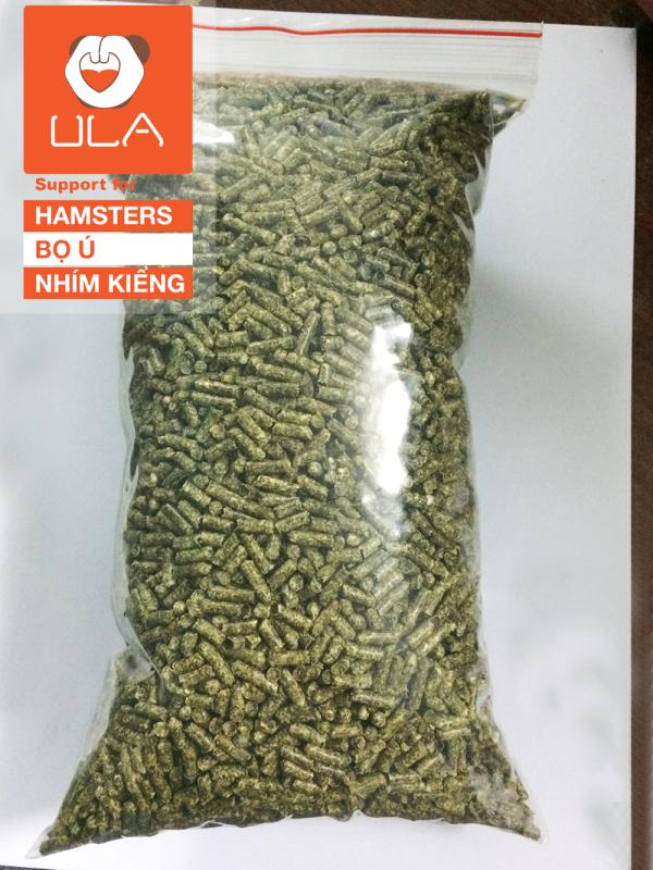 1KG Cỏ nén Alfalfa (linh lăng) size 0,3cm cho thỏ, bọ, gà...