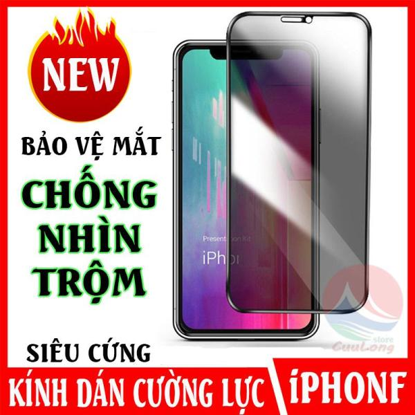 Kính Cường Lực Chống Nhìn Trộm iPhone, Thiết Kế Chống Bám Vân Tay Mồ Hôi, Cứng Như Saphire, cường lực chống ánh sáng xanh, miếng dán kính cường lực cho điện thoại iphone X XR XSMax 11 11Pro 11ProMax, miếng dán bảo vệ màn hình CuuLongStore