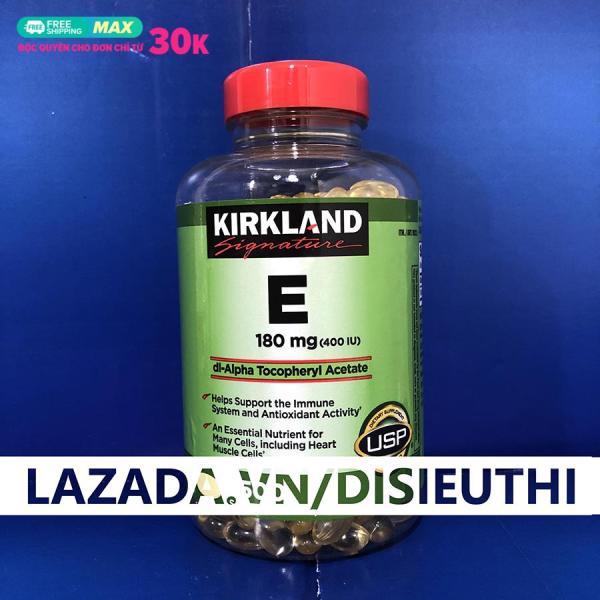 Vitamin E Mỹ Viên Uống Đẹp Da Bổ Sung Vitamin E 180mg 400 I.U Kirkland Signature Hộp 500 viên Vitamin E Đẹp Da, Sáng Da, Chống Nếp Nhăn, Tái Tạo Da Cho Phụ Nữ