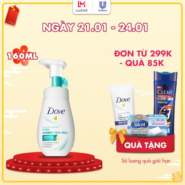 Sữa Rửa Mặt Dạng Bọt Dove Tinh Chất – Serum Cho Da Nhạy Cảm 160ml cao cấp