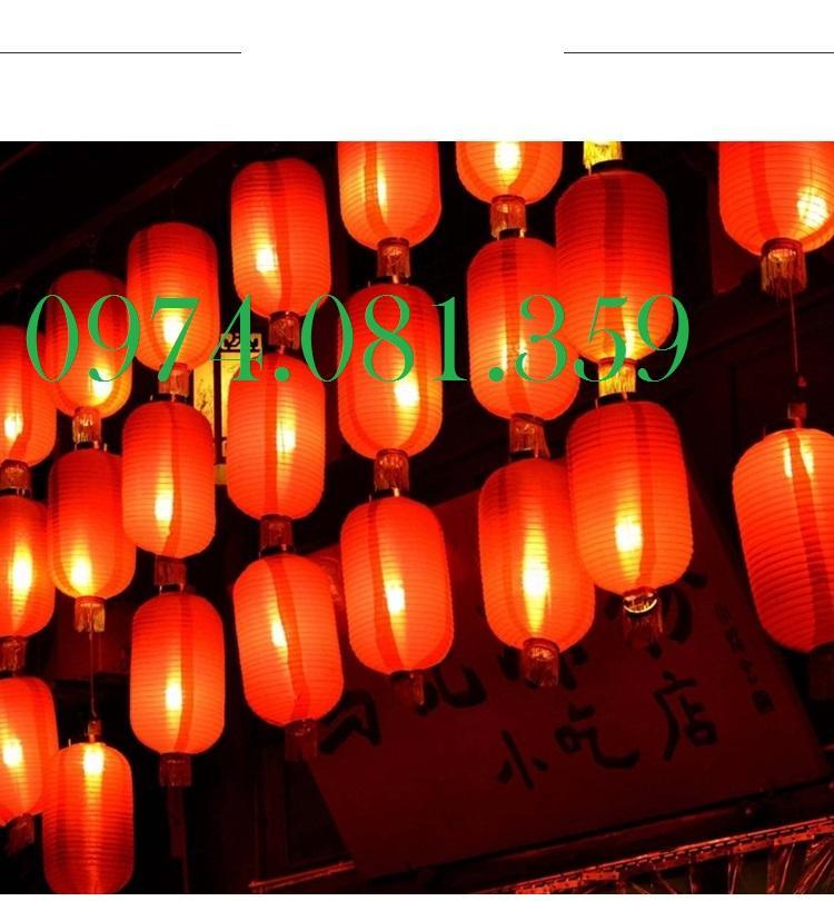 Combo 10 Đèn Lồng Dài Trang Trí Ngoài Trời ( Size 30cm x 55 cm)
