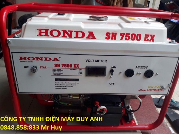 Máy phát điện gia đình chạy xăng 3kw honda thái lan SH3500EX