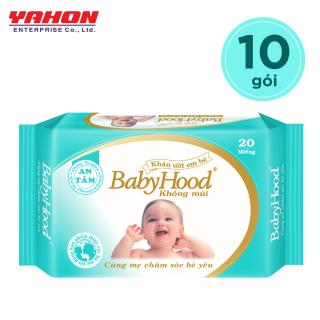 Lốc 10 Bao Khăn Ướt Em Bé Babyhood 20 miếng bao thumbnail