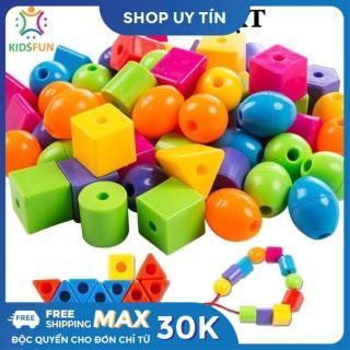 Đồ chơi trẻ em xâu 90 hạt ( kèm 3 dây xâu ) nhiều màu sắc giúp trẻ phát triển khả năng tập trung quan sát thumbnail
