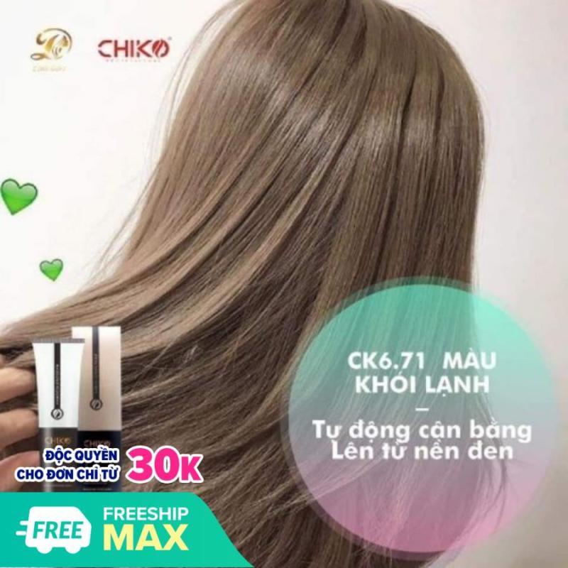 kem nhuộm tóc màu nâu khói lạnh (kèm oxi và găng tay) giá rẻ