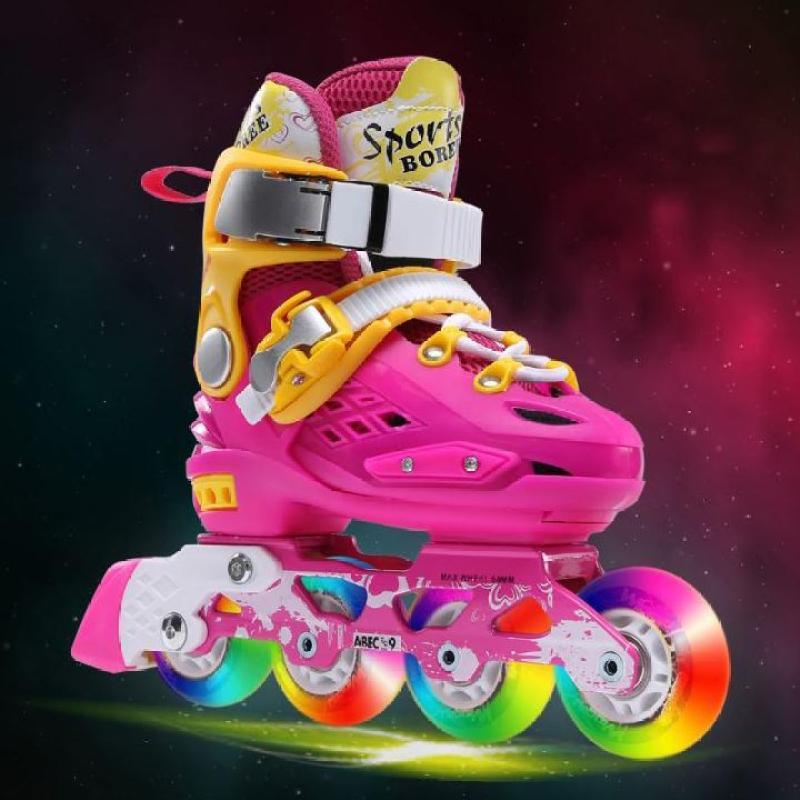 Phân phối Giày Patin Trẻ Em, Giày Trượt Patin 4 Bánh Phát Sáng cao cấp cỡ lớn cho bé trai bé gái [TOMTIN SPORT]