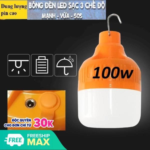 Bóng đèn LED sạc tích điện 100w 3 chế độ(4-6H) ( Vì đèn sử dụng nguồn 5V nên không so sánh được với 220V = không sáng bằng đèn 220v cùng công suất)
