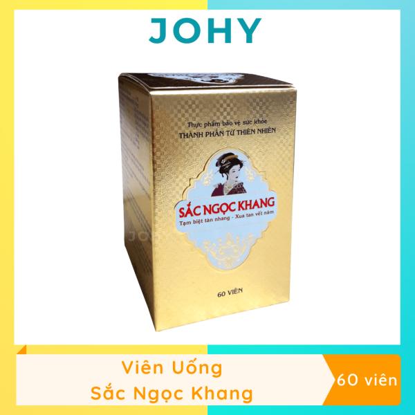 Viên uống Sắc Ngọc Khang Chăm Sóc Tàn Nhang, Nám Da, Sạm Da (Hộp 60 viên) - JOHY