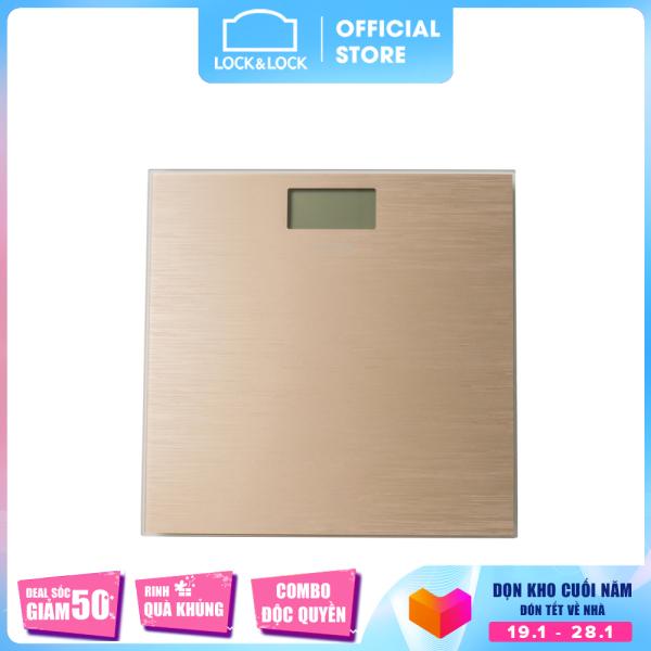 Cân sức khỏe điện tử Lock&Lock dùng trong gia đình pin sạc ENC526SLV - 180kg - Màu vàng đồng