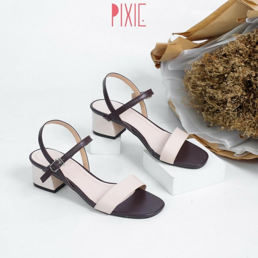 Giày Sandal Cao Gót 3cm Mix Màu X476 giá rẻ