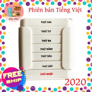 Hộp chia thuốc 7 ngày tiện lợi Tashuan TS-5317 bản tiếng việt mới nhất 2020 chia theo ngày, mỗi ngày có 4 ngăn sáng, trưa, chiều, tối. Chất liệu nhựa an toàn cho người sử dụng. Hàng Việt Nam chất lượng cao thumbnail