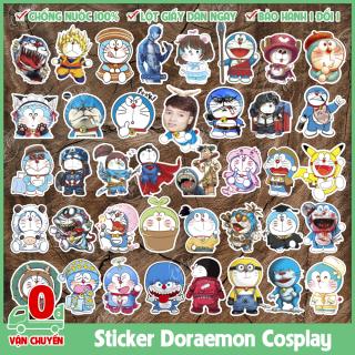 120 mẫu sticker hình dán chủ đề Đôrêmon (Doraemon) cosplay chống nước dán điện thoại, laptop, xe đạp, nón bảo hiểm,... thumbnail