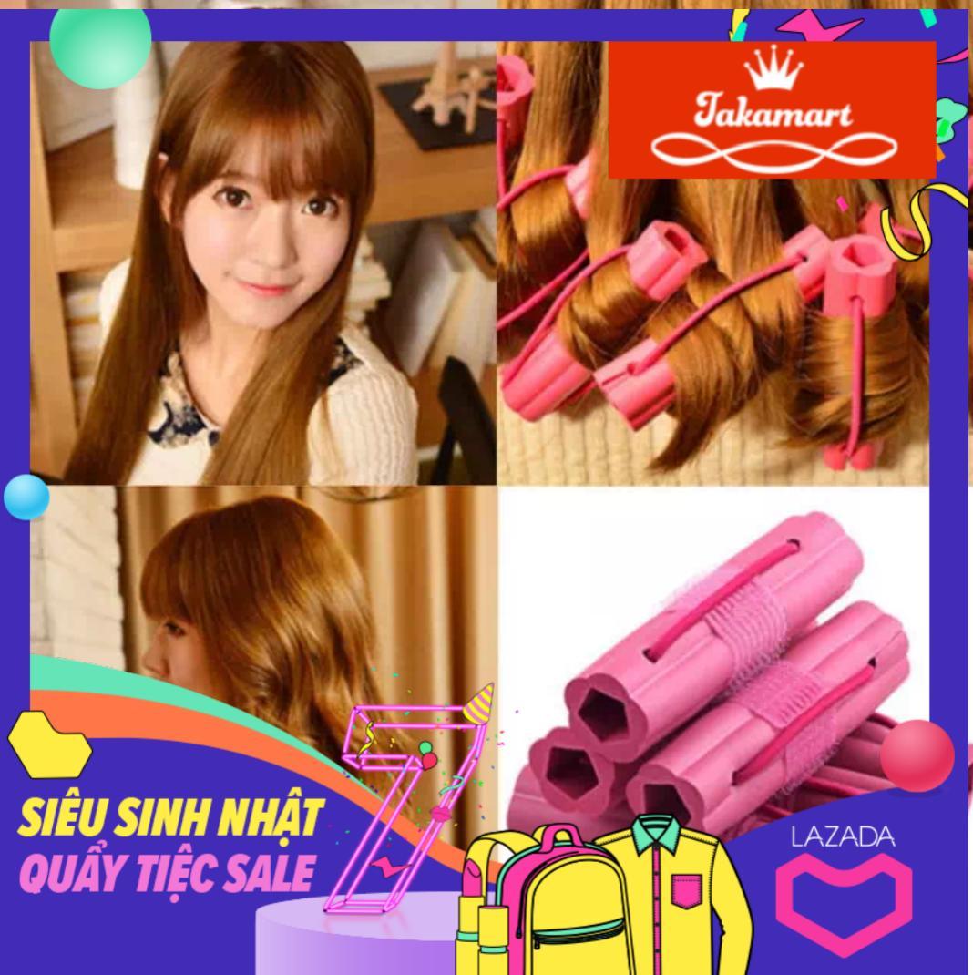 Lô uốn tóc 6 ống tạo kiểu tóc NIGHT SET CURLER - tóc xoăn siêu nhanh siêu tự nhiên nhập khẩu