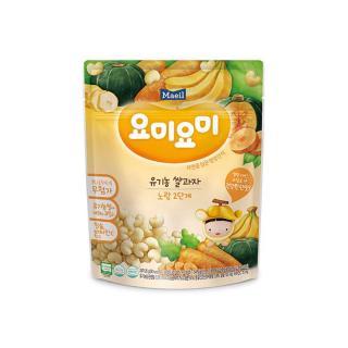 Bánh gạo ăn dặm Yummy Yummy nhập khẩu Hàn Quốc Yellow Stage 2 Vị Chuối và Bí Ngô cho bé từ 12M thumbnail