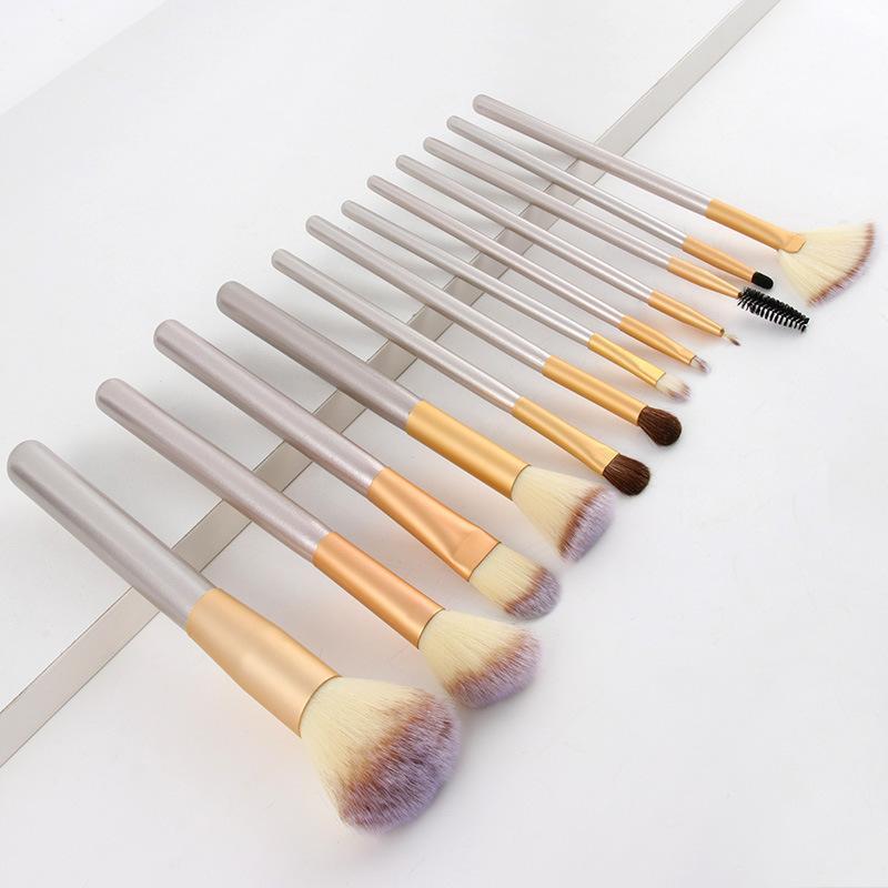 Bộ cọ makeup cá nhân 12 cây có bao da đi kèm như hình (C12-Vani)