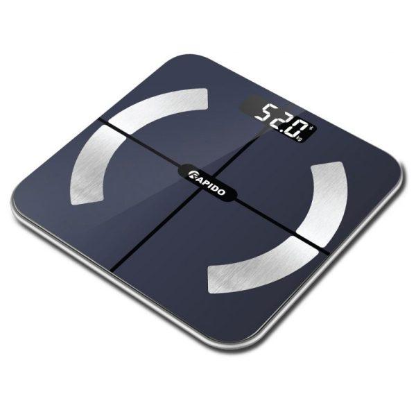 Cân sức khỏe điện tử, Cân điện tử đo cân nặng, Cân sức khỏe thông minh Rapido RSB02-S Có bluetooth Phân Tích Các Chỉ Số Cơ Thể. BẢO HÀNH CHÍNH HÃNG