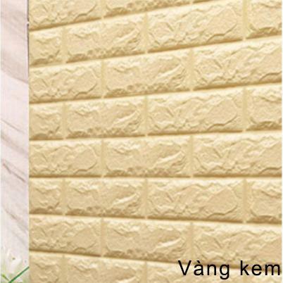 [HCM]Xốp dán tường giả gạch 70x77cm chống thấm nước keo dính chắc J0401 - HOM