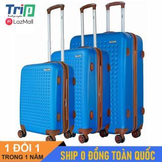 [MIỄN PHÍ SHIP] Bộ 3 Vali TRIP P803A Size 20 + 24 + 28inch (Xanh dương) - Vali du lịch TRIP nhựa cao cấp siêu biền có dây kéo nới rộng thumbnail