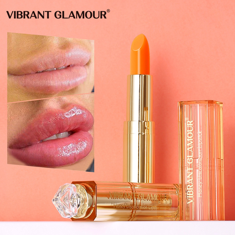 VIBRANT GLAMOUR Natural Honey Lip Balm Colors Ever-changing Lipstick Long Lasting Moisturizing Lipstick Anti Aging Makeup Lip Care giá rẻ