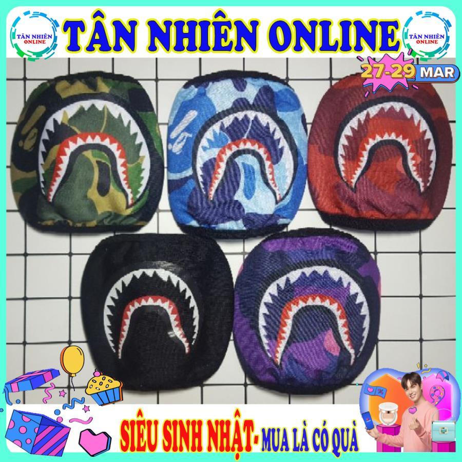 Khẩu trang Bape cá mập form chuẩn ôm mặt thời trang giá rẻ