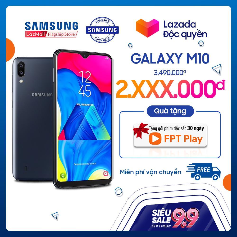 Điện thoại Samsung Galaxy M10 16GB (2GB RAM) - Hàng phân phối chính hãng   Màn hình siêu tràn viền 6 2 inch, camera kép góc siêu rộng 13MP/5MP