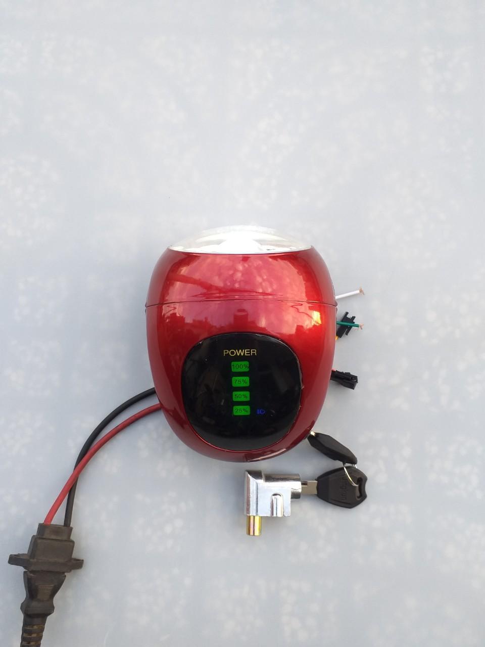 Mua đầu đèn xe đạp điện 48V/60V giá tốt - đầu đèn xe đạp điện - đầu đèn xe điện kiểu mới - đầu đèn tròn