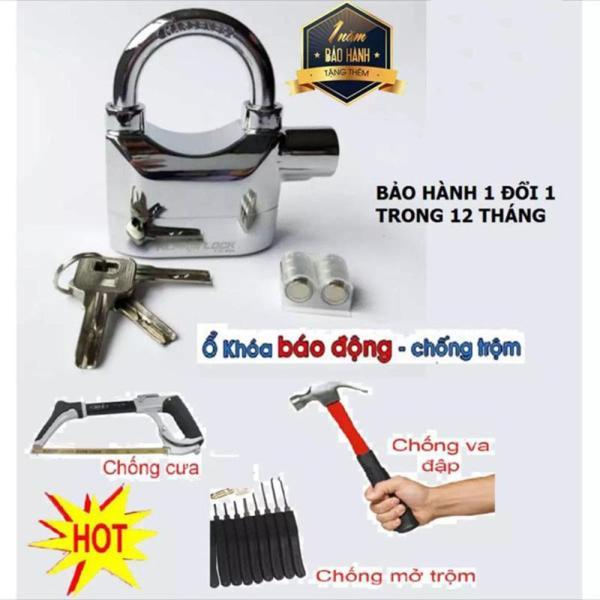 Ổ Khóa Chống Trộm ® - Ổ khóa báo động cho nhà / Top 5 ổ khóa chống trộm siêu bền đảm bảo an toàn / Ổ khóa báo động chống trộm Kinbar CT02