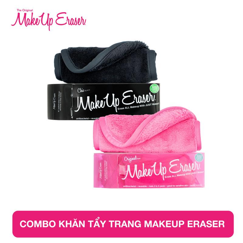 Combo khăn tẩy trang MakeUp Eraser Original Pink và Chic Black cao cấp