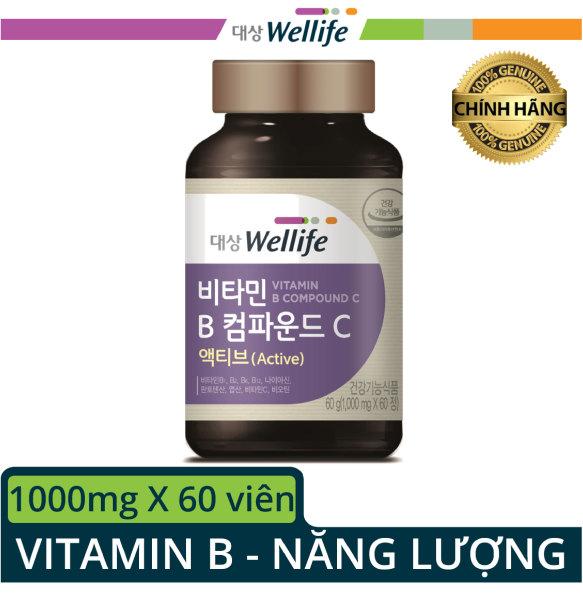 [Bổ sung vitamin B và C 60 viên] DAESANG WELLIFE / VITAMIN B COMPOUND C ACTIVE cao cấp